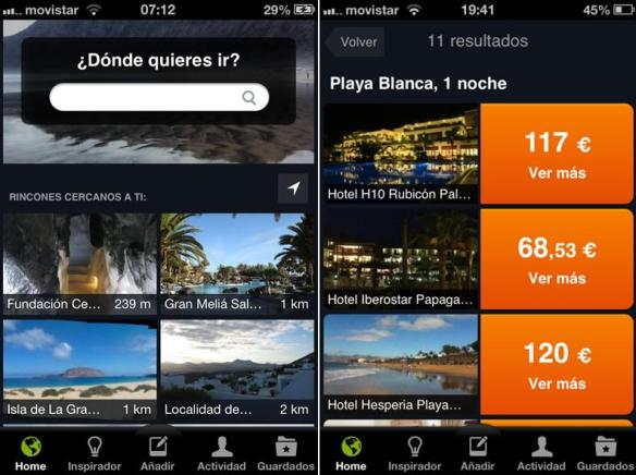 aplicaciones móviles recomendadas para viajar y hacer turismo: minube, tripadvisor, touristeye, kayak