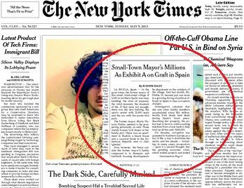 New York Times corrupción en España