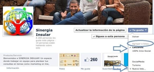 Listas de intereses facebook, content curation, sinergia insular blog