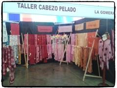 Stand del Taller Cabezo Pelado (La Gomera). Feria de Artesanía Tenerife Dic13