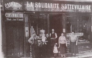 Cooperativa de consumo LA SOLIDARITÉ a finales del XIX en Francia