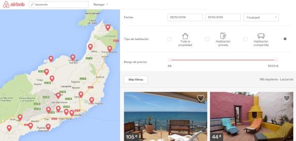 AirBNB vivienda vacacional en Lanzarote