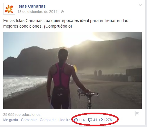Usa videos en facebook islas canarias